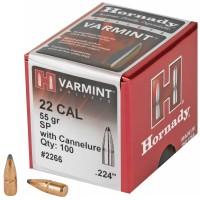 Hornady, Varmint Soft Point, 22 Cal, 100 Count, 55Gr